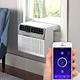 Soleus Air Exclusive 8,000 BTU Energy Star First Ever Over The Window Sill Air Conditioner Revolutionary Safety Class and Whisper Quiet, Keep Your Window View, With WiFi, Google Home, and Alexa (Fits up to 11' Wide Window Sill)
