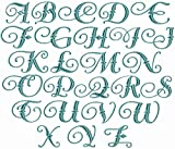 ABC Machine Embroidery Designs Set - Castle Alphabet Embroidery Designs Capital Letters in Two Sizes 4x4 Hoop - CD