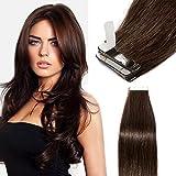 Extension Adhesive Cheveux Naturel 40 Pcs 80g - Rajout Cheveux Humain à...