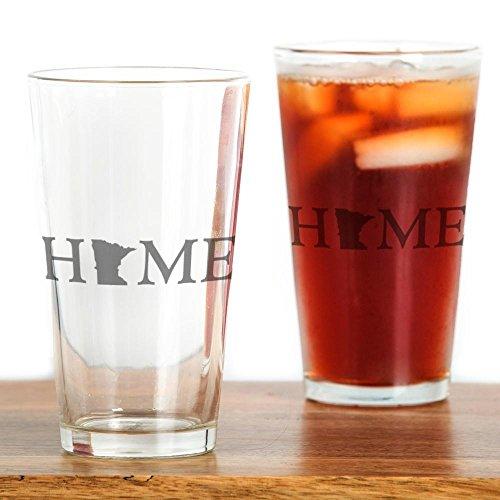 Cafepress Minnesota Home bicchiere, 16oz bicchiere Trasparente