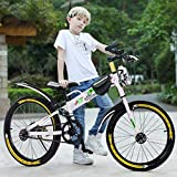 2021 New Kids Mountain Bike, 20 Inch BMX Style Frame Children's Bicycle Bike with Water Bottle Bag White