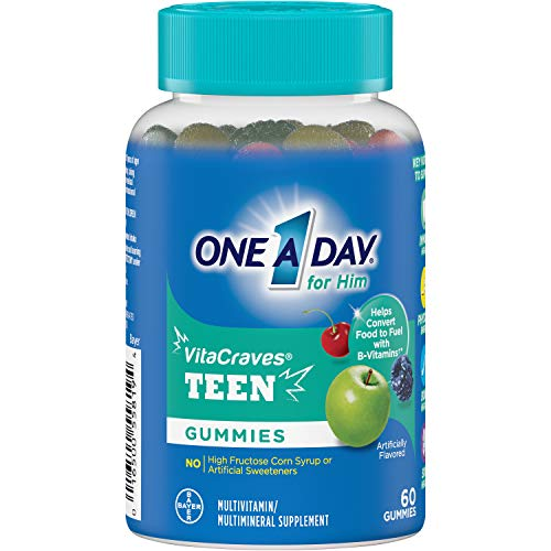 One A Day VitaCraves Teen for Him Multivitamin Gummies, Supplement with Vitamin A, Vitamin C, Vitamin D, Vitamin E and Zinc for Immune Health Support* & more, 60 Count 3