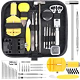 Mulit-function: You can use this watch repair kit for opening watch backs, watchband adjustment, changing watch batteries, gaskets, adjusting bands and so on. Suit for most watches: The 147 pcs watch repair kit are made by high quality material, suit...