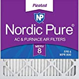 Nordic Pure 18x18x1 MERV 8 Pleated AC Furnace Air Filters 6 Pack, 6 PACK, 6 PACK