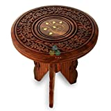 PSWOOD Sheesham Wooden Table End Coffee Table for Living Room