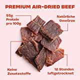 Gym Jerky Beef African Chili 1kg – 25x40g High Protein – Low Fat & Low Carb – Deutsches Premium-Rindfleisch Made in Germany - 4