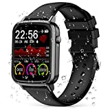 2020 CEGAR Fitness Tracker, Smart Watch with Heart Rate, Ip68 Waterproof Bluetooth Smartwatch for Android iOS Phone, Sleep Tracking Calorie Counter,Pedometer for Women Men(Black)