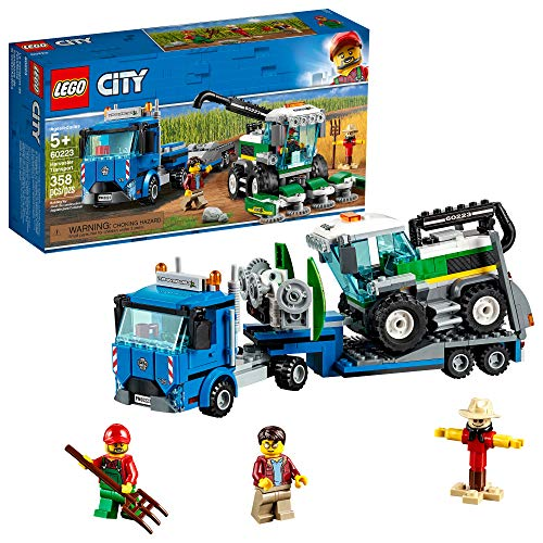 LEGO City Great Vehicles Harvester Transport 60223 Building Kit (358 Pieces)
