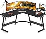 Cubiker Modern L-Shaped Desk Computer Corner Desk, PC Laptop Writing Study Desk for Home Office Wood...