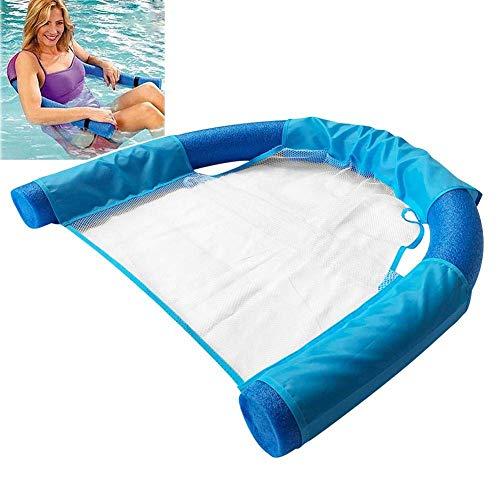 LuukUP Schwimmender Nudelstuhl Für Wasser, Tragbarer U-Sitz Aus Mesh, Flexibel Für Erwachsene, Schwimmbecken-Schwimmsessel Für Schwimmbäder, für Erwachsene und Kinder (Blau)