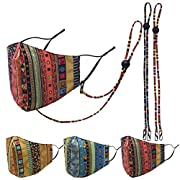 Materials: Made of 100% cotton. Adjustable ear straps design, one size fits most face shapes.Washable masks,it can be washed by hand. After wearing the madk for a long time, the ears and the nearby skin are easily injured by the mask rope. Therefore,...