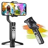 Stabilisateur Smartphone - Gimbal Stabilisateur pour iPhone 13/12/11 Pro/XR, Samsung S20+, Huawei P40/30 Pro, Gimbal Pliable à Poche Design Léger Portable,...
