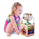 BeebeeRun Cube d'Activité Bébé en Bois 6 en 1 Centre...
