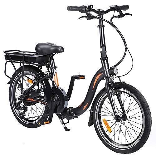 Vélo Électrique Pliable de 20 Pouces avec Pédales, Vélo Électrique 250 W 36V 10AH/7,5 Ah, Vitesse Maximale 25 km/h, Vélo idéal pour Femmes et Personnes âgées (Charge Rapide et Livraison Rapide)
