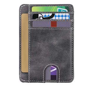Wallets for Men Women Slim Front Pocket Wallet RFID Blocking Credit Card Holder Minimalist Thin Wallet