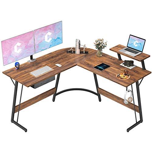 CubiCubi L-Shaped Desk Computer Corner Desk, 50.8' Home Gaming Desk,...