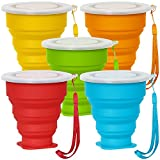 SENHAI 5 Pack Collapsible Travel Cup with...