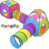 NUBUNI 4 en 1 Pop Up Jouer Tente avec Tunnel, Balle Pit pour Les Enfants,...
