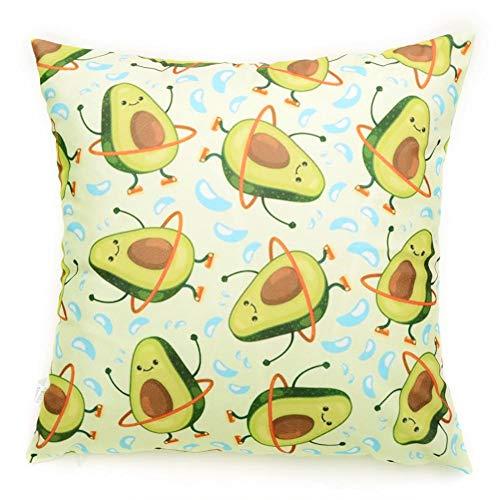 Funda de Almohada de Dibujos Animados Suave con patrón de Frutas para sofá, Oficina, hogar, cojín de Asiento Decorativo