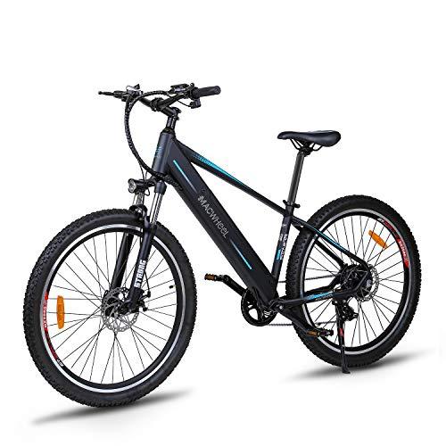 Macwheel Wrangler-600 27,5' Bici Elettrica da Montagna, 48V/10Ah Rimovibile Batteria agli Loni di Litio, Shimano 7 velocità, Sospensione Anteriore, Tektro Freni a Disco, Biciclette Pedalata Assistita
