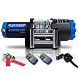 REINDEER 12V Winch 4500 lb Load Capacity Electric Winch Steel Cable with Hawse Fairlead Waterproof IP67 with Wireless Handheld Remotes