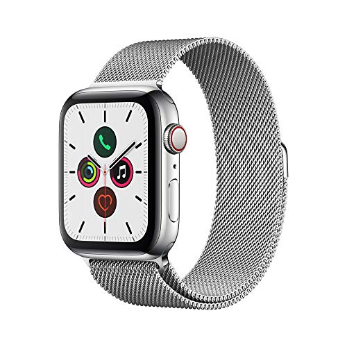 Apple Watch Series 5 (GPS+Cellular, 44 mm) Acero Inoxidable con Milanese Loop
