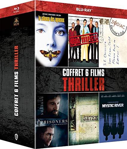 Coffret 6 Films Thriller : Seven + Usual Suspects + Le Silence des agneaux + Mystic River + Prisoners + Zodiac [Blu-Ray]