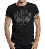 GASOLINE BANDIT Original Biker Racer Camiseta: Wheels on Fire-XL