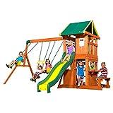 Backyard Discovery Oakmont All Cedar Wood Playset Swing Set