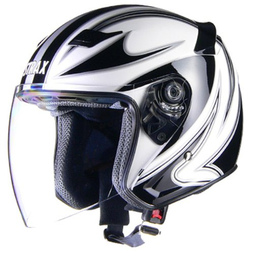リード工業(LEAD) バイクヘルメット ジェット STRAX ホワイト M SJ-9 -