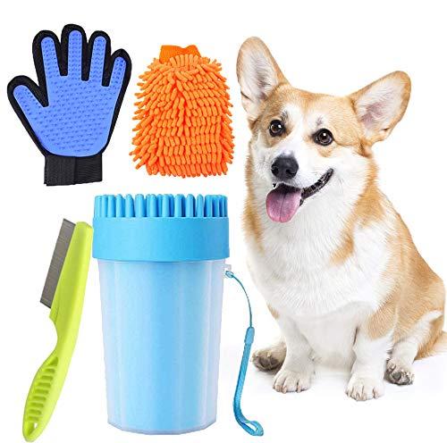 Limpia Patas Perro Portátil,Taza de Limpieza para Mascotas,