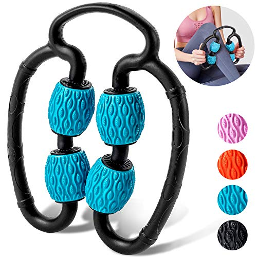 M MILY SPORT Massage Roller, Leg Rollers for Muscles Foam Roller Massager Muscle Roller for Legs, Arm Myofascial Fascial After Workout Exercise Muscle Soreness Pain Relieve (Blue)