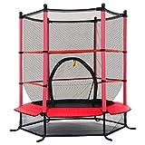 DREAMADE Trampolino da Giardino Tappeto Elastico per Bambini con Rete di Sicurezza, Diametro di 140 cm (medello 3)