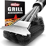 GRILLART Grill Brush and Scraper with Deluxe Handle - Safe Stainless Steel Wire Grill Brush for Gas...