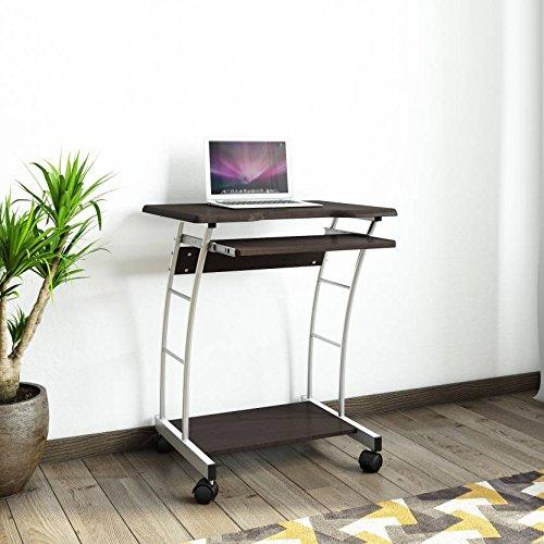 Nilkamal Leo Computer Trolley/Table (Black/Walnut)