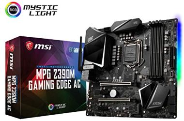 MSI MPG Z390M Gaming Edge AC LGA1151 (Intel 8th and 9th Gen) M.2 USB 3.1 Gen 2 DDR4 HDMI DP Wi-Fi SLI CFX Micro ATX Z390 Gaming Motherboard