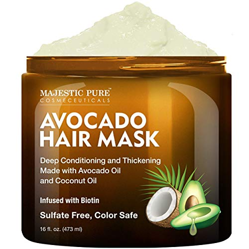 MAJESTIC PURE Avocado and Coconut Hair Mask for...