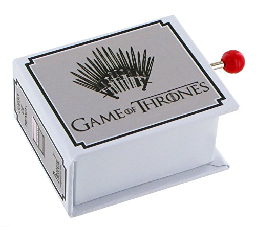 Caja de música de manivela de cartón en forma de libro - Tema de Juego de tronos (Game of Thrones)