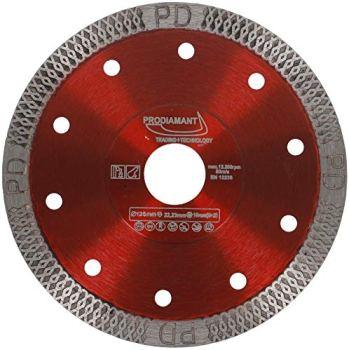 PRODIAMANT Disque à carreaux Premium 125mm avec alésage de 22,23 mm pour carreaux de grès fin et pierre naturelle