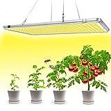 Bozily Lmpara de Plantas, Lmpara de Cultivo LED de 300W para Plantas de Interior, Cabezal Dual de Espectro Completo, 338 LED, Auto On/Off, para Siembra en Crecimiento, Germinacin y Floracin