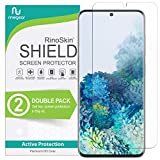(2-Pack) RinoGear Screen Protector for Samsung Galaxy S20 (Fingerprint ID Compatible) Case Friendly Galaxy S20 Screen Protector Accessory Full Coverage Clear Film