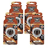 Yankee Candle Car Freshener Smart-Scent Vent Clips, 4-Pack (Leather)