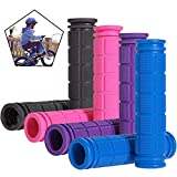 Rocutus 4 Pair Bike Handlebar Grips,Non-Slip Rubber Mushroom Bicycle Grips,Perfect for Scooter Cruiser Seadoo Tricycle Wheel Chair Mountain Road Urban Foldable Bike MTB BMX (Black,Pink,Blue,Purple)
