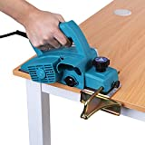 Electric Hand Planer, 600W Handheld Wood Planer Woodworking Planing Tool with 1mm Cutter Depth Adjustable for Woodworker, Carpenter, Home, Industry (Blue110V US Plug)