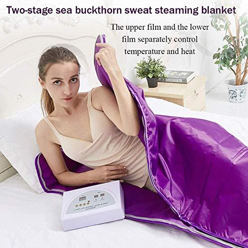 Heat Sauna Slimming Blanket, Digital Far-Infrared (FIR) Oxford Sauna Blanket Safety Switch Hands Free Design for Weight Loss Body Shape Slimming Fitness 6