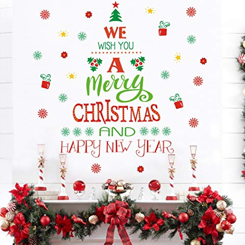 Merry Christmas Quotes Wall Decals(43 decals), Happy New Year Quotes Stickers