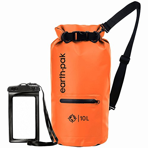 Earth Pak- Waterproof Dry Bag with Front Zippered Pocket Keeps Gear Dry for Kayaking, Beach,...
