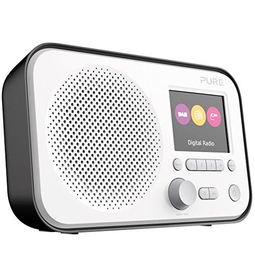 Pure Elan E3 Digitalradio (DAB/DAB+ Digital und UKW-Radio mit Weckfunktionen, Küchen- und Sleep-Timer, 2,8-Zoll-TFT-Farbdisplay, 40 Senderspeicherplätze), Schwarz