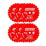 Diablo 6-1/2' x 24-Tooth ATB Framing Saw Blade with 5/8' Arbor (6-Pack)