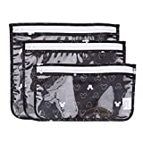 Bumkins Disney TSA Approved Toiletry Bag, Travel Bag, PVC-Free, Vinyl-Free, Clear Front, Set of 3 - Mickey Mouse Icon